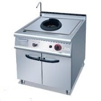 1-Burner Wok Range With Cabinet
