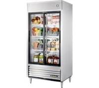 2 Glass Doors  Static cooling Reach-In Refrigerator