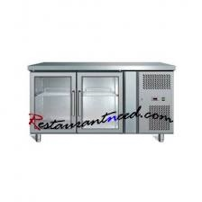 2 Glass Doors Static Cooling  Undercounter Refrigerator