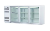 3 Glass Doors Static Cooling  Undercounter Refrigerator