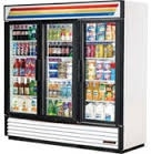 3 Glass Doors Static cooling Reach-In Refrigerator