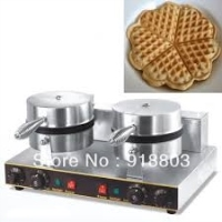Electric 2-Head Heart-Shaped Waffle Baker