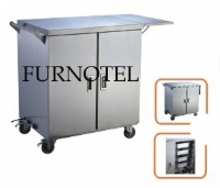 Electric food warmer cart